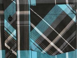 Men's Plaid Button Up Short Sleeve Regular Fit Casual Dress Shirt w/ Defect - L image 2