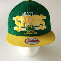 Seattle Supersonics Baseball Hat Cap New Era 9 Fifty Snapback Embroidered - $28.04
