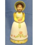 Avon 1985 Porcelain Bell Country Girl Figurine - $8.95