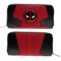 Fashion Women Marvel Inspired Long Wallet Deadpool Design Card Compartme... - $29.91