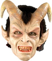 An item in the Fashion category: Halloween ELEGANT DEVIL WITH HORNS Adult Latex Deluxe Mask Bump In The Night