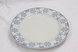 """Oneida Majesticware Frosty Blue Snowflake Chop Plate Platter 12"""" - $32.83"""