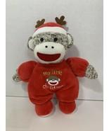 Magic Years My First Christmas sock monkey plush baby toy stuffed lovey ... - $4.94
