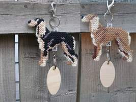 Saluki crate tag or hang anywhere, handmade hound sighthound dog, color ... - $19.00