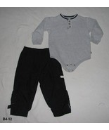Peek-A-Boo Gray Onesie and Black Athletic Works Pants Size 24 mo. - $10.99