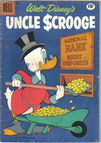 Walt Disney's Uncle Scrooge Comic Book #33 Dell Comics 1961 VERY GOOD