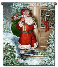 27x36  SANTA Christmas Holiday Tapestry Wall Hanging  - $39.50