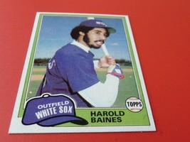 1981 #347 Topps Harold Baines Rookie Mint / Mint + White Sox Baseball - $79.99