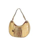 "MC Handbags ""Kara"" Leather Croco Embossed Lattice Design Hobo Bag - Grea... - $69.90"