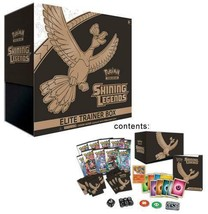 POKEMON TCG Shining Legends Elite Trainer Box 10 Sealed Booster Packs Cards - $57.95