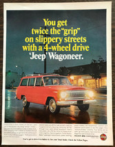 ORIGINAL 1966 Jeep Wagoneer PRINT AD Have More Fun in 4-Wheel Drive - $11.16