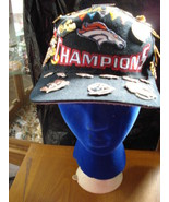 Vintage Broncos Superbowl Hat With Souvenir Pins - $180.18