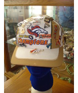 White Vintage Broncos Superbowl Hat With Souvenir Pins - $205.92