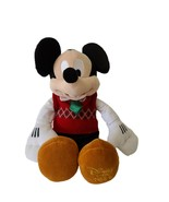 2011 Disney Store Mickey Mouse Plush Stuffed Christmas Toy Holiday - $12.61