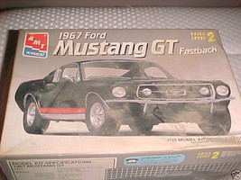 1967 ford mustang gt model kit 1 - 25 scale - brand new - $49.99