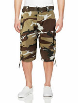 Men's Tactical Military Army Camo Camouflage Slim Fit Cargo Shorts With Belt image 5