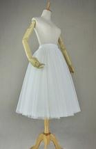 White Polka Dot Tulle Skirt White Ballerina Tulle Skirt Outfit image 2