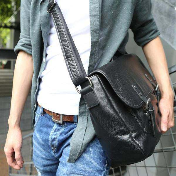 Sale, Retro Men Messenger Bag, Full Grain Leather Briefcase, Tote, Laptop Bag image 6