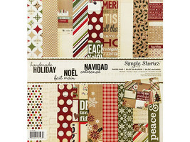 Simple Stories Handmade Holiday Cardstock Paper Pad #SSHMH1