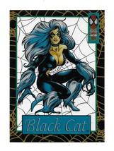1994 Fleer Marvel Spiderman Suspended Animation Black Cat Acetate Card #11 - $6.93