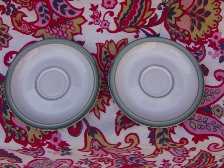 2 Denby Regency Green Saucers Made in England