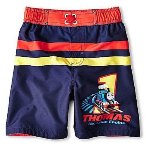 Infant 12-18M Swim Trunks Bathing Suit Shorts Thomas The Tank Engine Baby Boy's