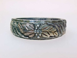 10K BLACK HILLS GOLD & STERLING Silver RING - Size 8 - $75.00