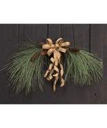 """30"""" Icy Needle Pine Arch Swag w/Bow Door Mantle Christmas Decor   - $56.99"""