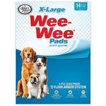 """Four Paws Wee-Wee Pads 14 pack Extra Large White 28"""" x 34"""" x 0.1 - $12.49"""