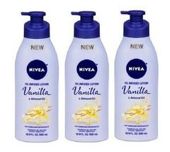 Nivea Oil Infused Body Lotion Vanilla & Almond Oil 3 Pack - $39.55