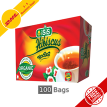 100% Organic and Natural Egyptian ISIS Herbal Hibiscus Tea 100 Bags - $23.94+