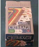 3-Track Wood Cribbage Board by Cardinal. NIB - $8.75