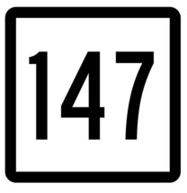 Connecticut State Highway 147 Sticker Decal R5159 Highway Route Sign - $1.45+