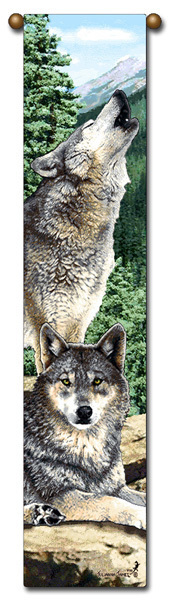 Bell pull wolves grey song  b231