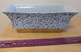 Shawnee Planter Light Blue w/ Dark Blue Confetti, Gold Base Window Box USA - $8.00