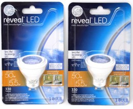 2 GE LED 50w Replacement 5.5w Indoor Floodlight Bright White GU10 Bulb D... - $15.09