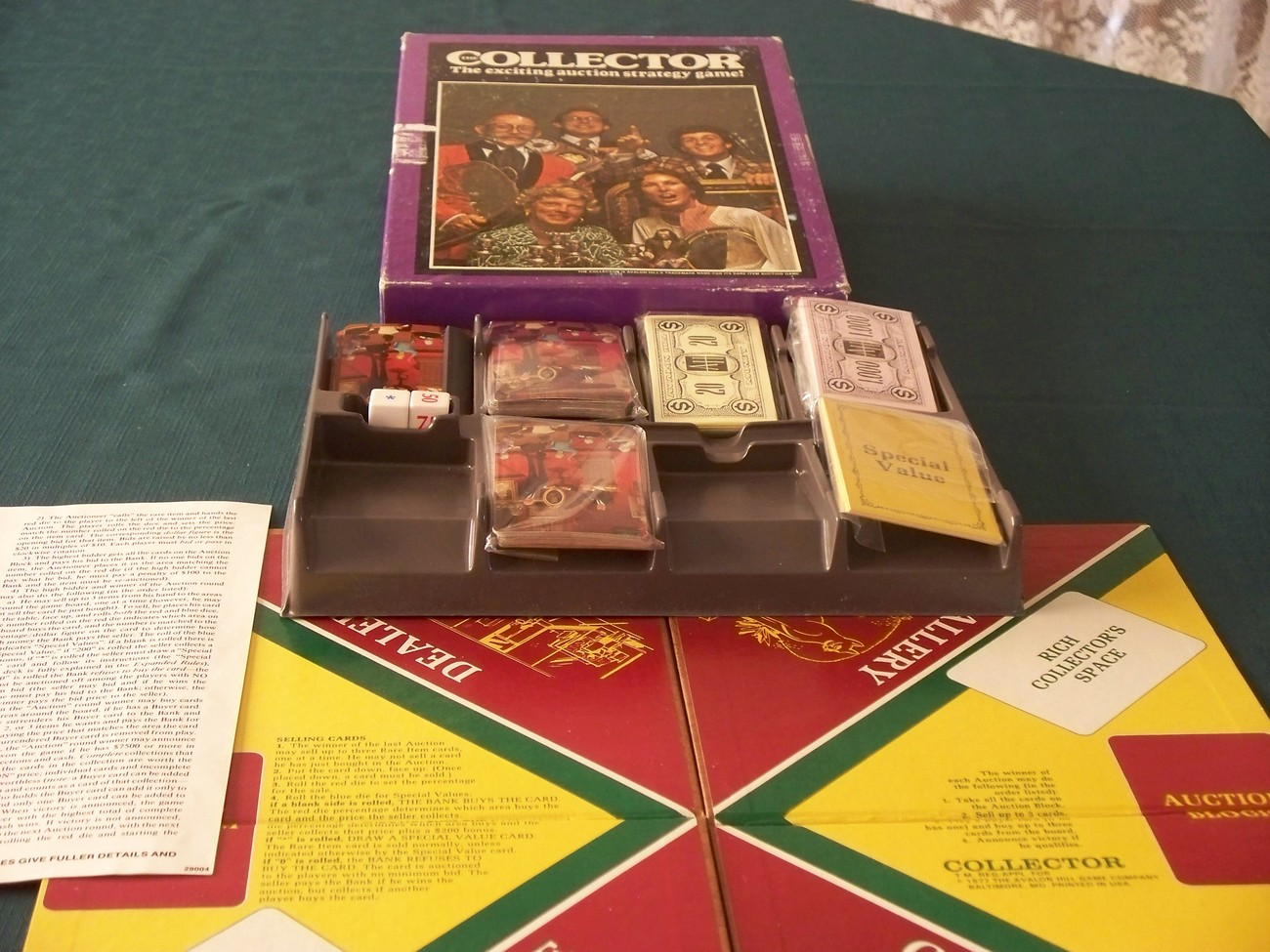 The Collector Game  Avalon Hill 1977 Complete