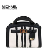 MICHAEL KORS KARSON XS SATCHEL PEBBLED LEATHER EXTRA SMALL BAG OPTIC WHI... - $165.00