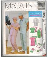 McCalls Uncut Sewing Pattern #9123 Size Y Small Medium Large Uniform Ess... - $12.50