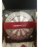 Crate & Barrel Game-Magnetic dart board set includes 3 boards & darts-BR... - $49.99