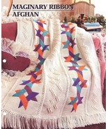 Imaginary Ribbon Afghan Crochet Pattern Annie's - $12.95