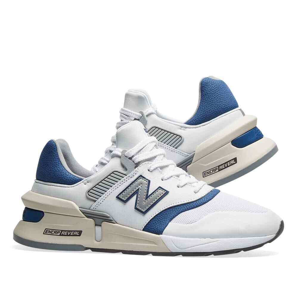 New Balance 997 Mens Trainers White/Blue Sneakers image 5