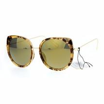 Oversized Round Cateye Sunglasses Womens Double Frame Mirror Lens UV400 - $12.95