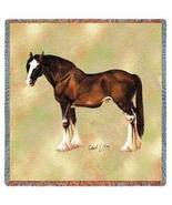 """54"""" CLYDESDALE HORSE Tapestry Afghan Throw Blanket - $43.00"""