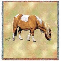 54x54 SHETLAND PONY HORSE Square Jacquard Throw Blanket - $42.95