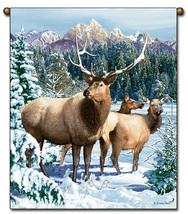27x36  ELK Deer Buck Wildlife Tapestry Wall Hanging  - $39.50