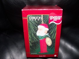 Retired 1999 Carlton Cards Santa Claus Pez Candy Dispenser Christmas Ornament - $22.40