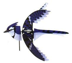 "35"" BLUE JAY Bird Whirligig Wind Spinner Windso... - $55.00"