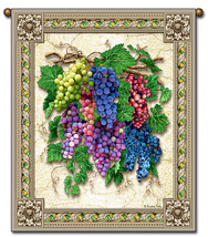 27x36  Vintage GRAPES Fruit Tapestry Wall Hanging  - $39.50