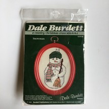 Dale Burdett SNOWMAN Country Christmas Cross Stitch Kit with Frame CCK14... - $12.55